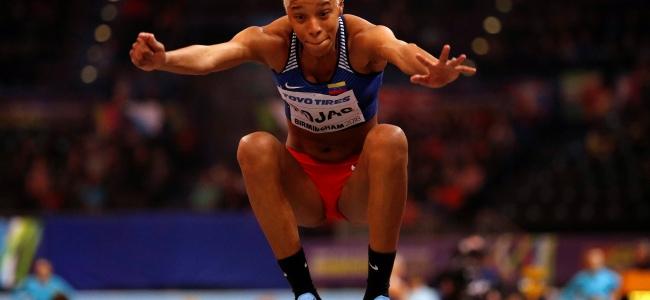 Yulimar Rojas oro en triple salto en el campeonato mundial de atletismo en pista cubierta